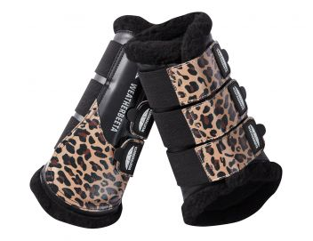 Leopard Brushing Boots